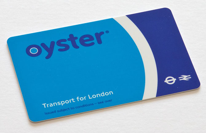 This is what a regular London Oystercard looks like. They do sometimes have 'Limited Edition' themed ones too
