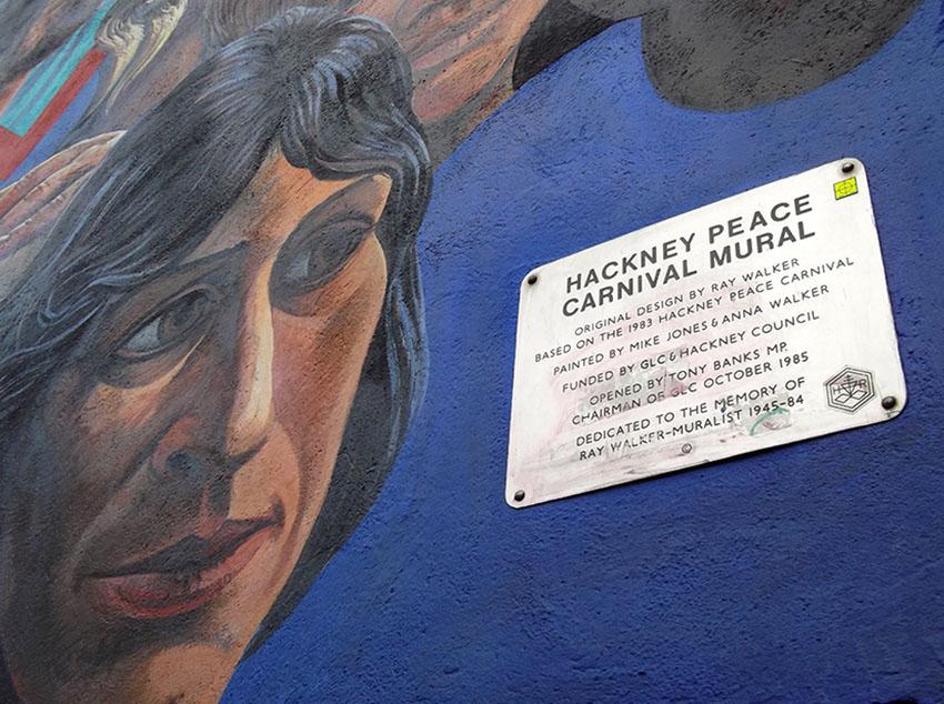 Dalston Peace Mural memorial