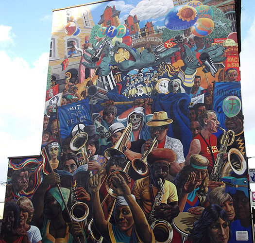 Dalston Peace Mural blogger roundup
