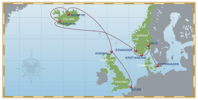 Cruising to Norway and Iceland with Disney Cruise Line. OnePennyTourist.com