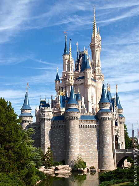 Cinderella's Castle at the Magic Kingdom in Walt Disney World, Orlando, Florida. www.onepennytourist.com