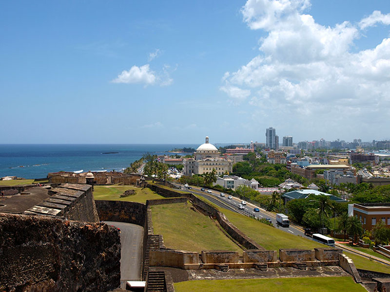 View over San Juan from Castillo San Cristobal. www.onepennytourist.com