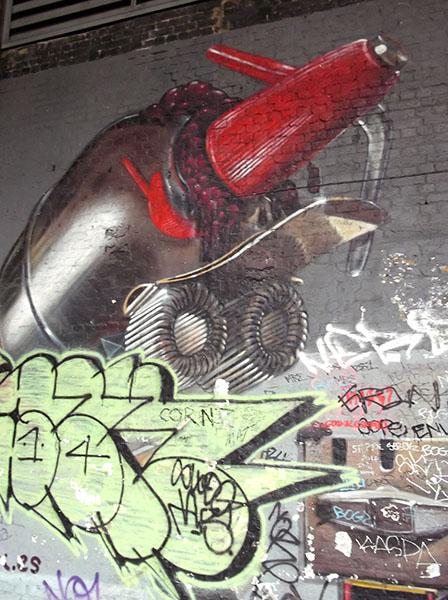 Street Art in London Clink Street