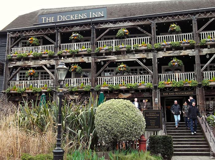 Dickens Inn in picturesque St Katherine's Dock, London