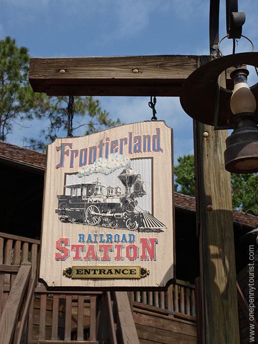 Magic Kingdom train transport in Walt Disney World