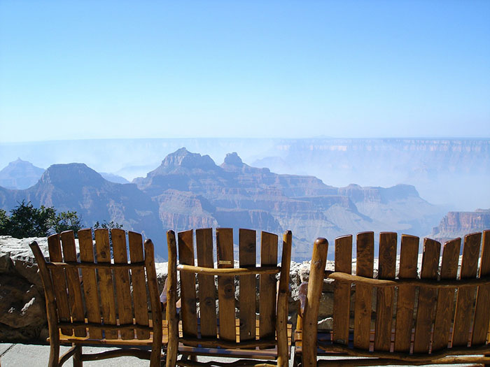 A never ending view over the Grand Canyon