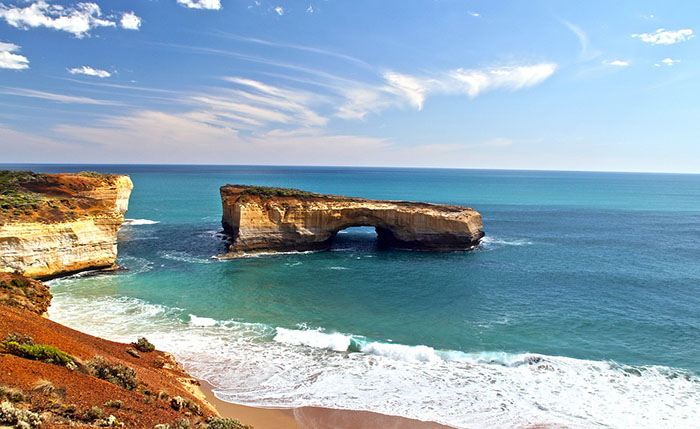 London Bridge Rock along the Great Ocean Road in Australia