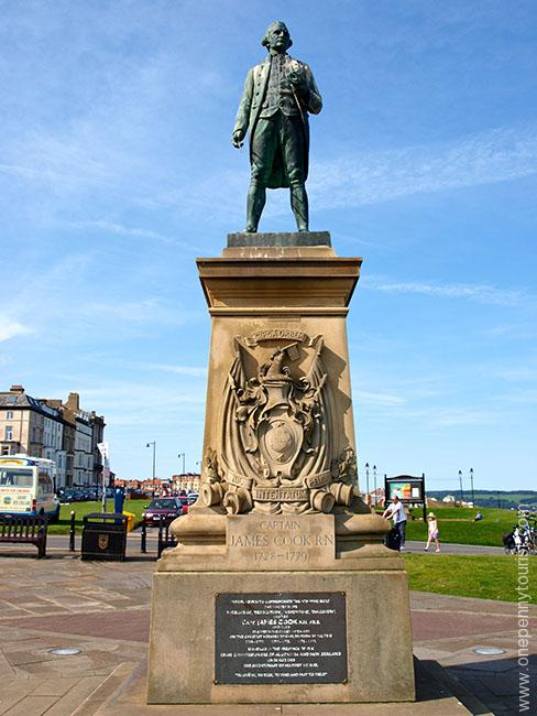Captain James Cook's Statue in Whitby, North Yorkshire