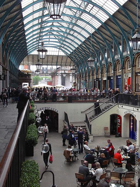 Inside the main Covent Garden Building in London