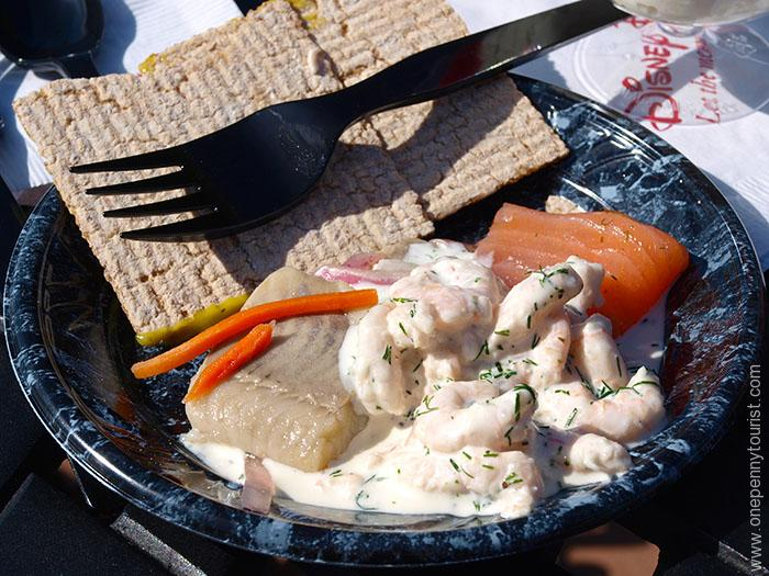 Traditional Herring served at Norway during Epcot's Food and Wine Festival at Walt Disney World. Orlando, Florida