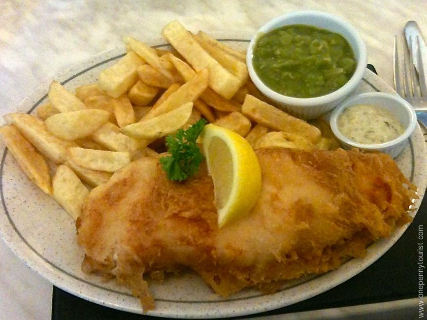 Traditional Whitby Fish and Chips - being a coastal harbour, the fish is super fresh