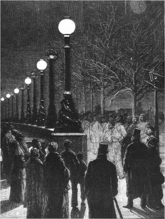 The Victoria Embankment in London was the first street in England to have permanent electric lights
