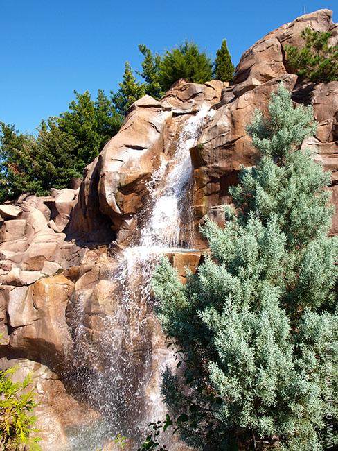 Surprising photos of Walt Disney World. The 'waterfall' at Epcot's Canada Pavilion. OnePennyTourist.com