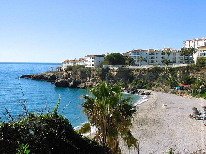 Nerja is scattered with lots of little beaches (Spain). OnePennyTourist.com