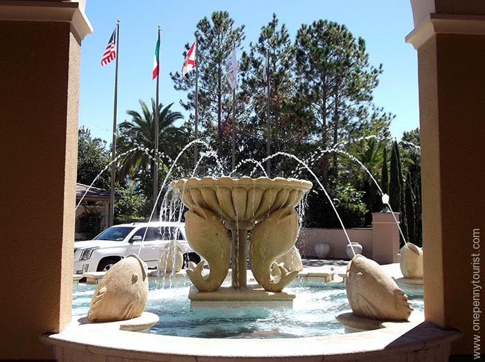 This fountain at the Portofino Bay Hotel main entrance is one of the first things to greet you when you arrive at to check in. At Universal Orlando