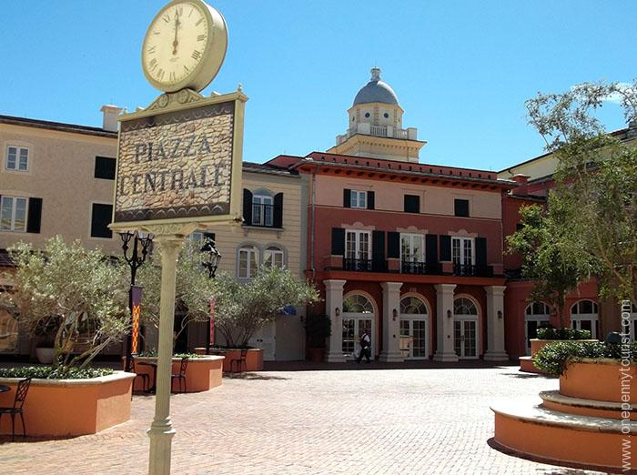 Piazza Centrale at the Portofino Bay Hotel at Universal Orlando Resort, Florida