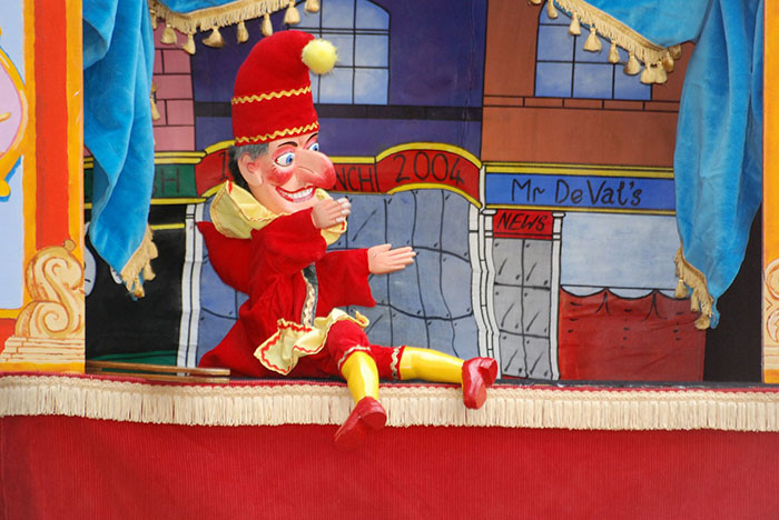 Samuel Pepys Diary records the first mention of Punch and Judy performing in the UK