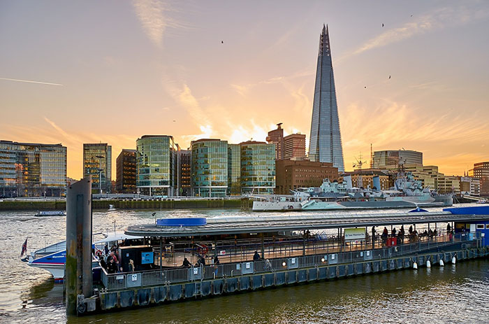 The Shard in London - the highest view point in London from the top but there are also restaurants half way for alternative views