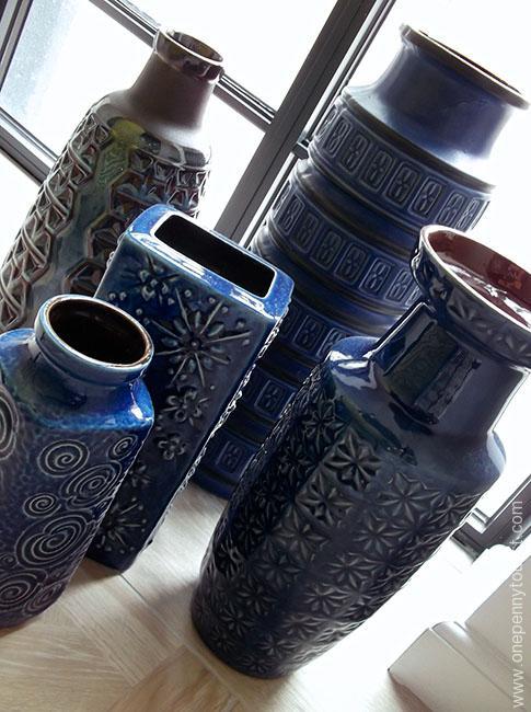 Absalon Hotel in Copenhagen - decorative vases. OnePennyTourist.com