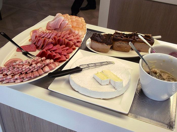 Absalon Hotel in Copenhagen - breakfast buffet of cold cuts, pate, cheese and herring. OnePennyTourist.com