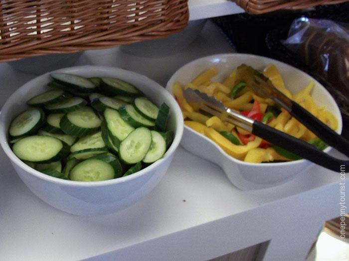 Absalon Hotel in Copenhagen - breakfast buffet salad. OnePennyTourist.com