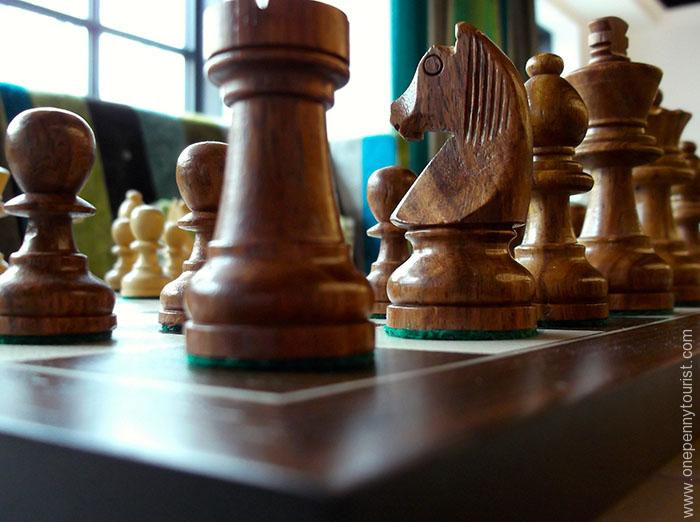 Absalon Hotel in Copenhagen - chess set. OnePennyTourist.com