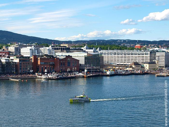 Oslo in 8 hours: Aker Brygge, Oslo, Norway - during our sail away on the Disney Magic. OnePennyTourist.com