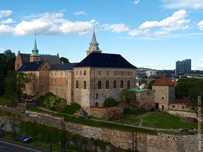 Oslo in 8 hours - Akershus Fortress, Oslo, Norway - during our sail away on the Disney Magic. OnePennyTourist.com