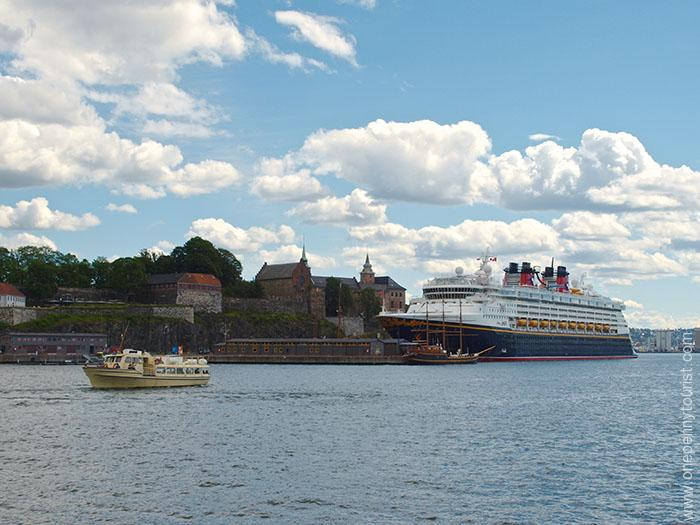 Oslo in 8 hours - Disney Magic docked in Port of Oslo, Norway. OnePennyTourist.com