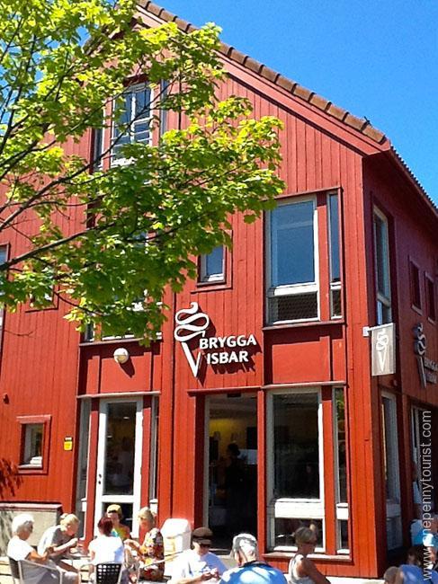 Fiskebasaren Ice Cream in Kristiansand Norway. OnePennyTourist.com