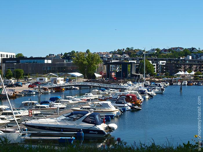 Harbour view from Christiansholm Fortress in Kristiansand Norway. OnePennyTourist.com