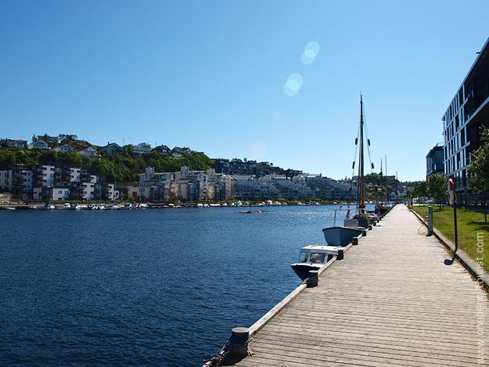 Riverside in Kristiansand Norway. OnePennyTourist.com