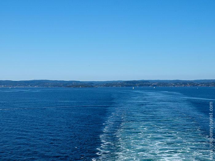 Sailing away from Kristiansand in Norway on the Disney Magic. OnePennyTourist.com