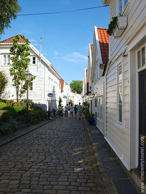 One of the 'main' Old Stavanger streets we explored during our day visit. OnePennyTourist.com