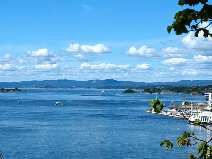 Oslo in 8 hours - Looking down Oslofjord from Akershus Fortress, Oslo, Norway. OnePennyTourist.com