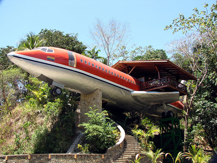 Ever fancied staying in a hotel in the jungle that's also a plane? Unusual hotels around the world at OnePennyTourist.com
