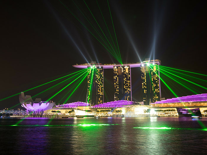 Marina Bay Sands in Singapore. Unusual hotels around the world at OnePennyTourist.com