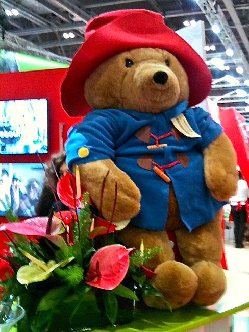 Giant Paddington Bear at the Peru stand at the World Travel Market (WTM London 2015). OnePennyTourist.com