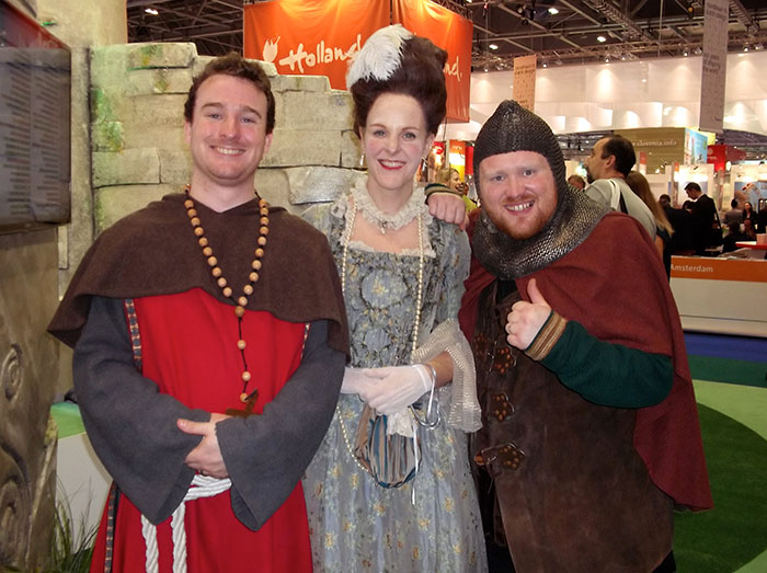 Visit Ireland actors at the World Travel Market (WTM LONDON 2015). OnePennyTourist.com