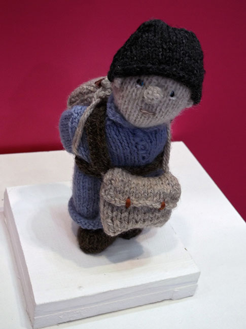 A single wool soldier in the Wool War One Travelling Exhibition at the World Travel Market (WTM London 2015). OnePennyTourist.com